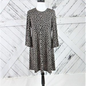 Bell Sleeve Fit & Flare Polka Dot Dress